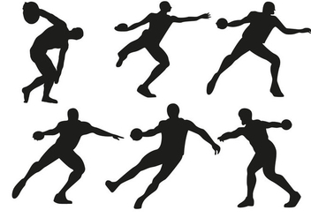 Free Discus Thrower Vector - Free vector #367217