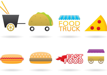 Food Truck Logo Vectors - бесплатный vector #367287