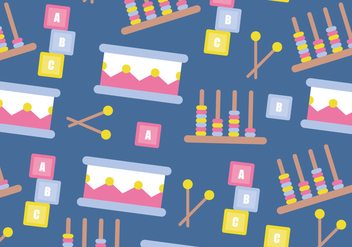 Playful Pattern Vector - vector #367377 gratis