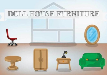 Free Doll House Furniture Vector - Free vector #367407