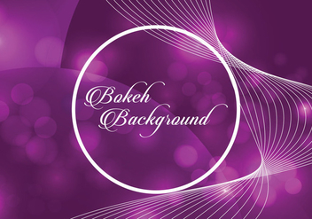 Purple Bokeh Background - Free vector #367427