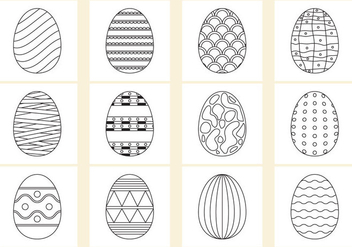 Coloring Easter Eggs - vector #367477 gratis