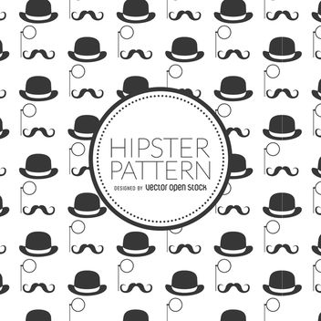 Hipster elements background - vector #367587 gratis