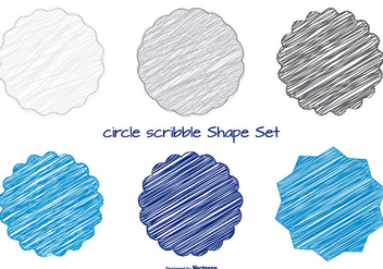 Fun Scribble Shapes Set - Kostenloses vector #367667