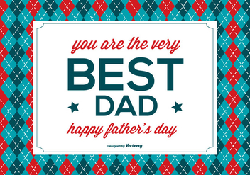 Happy Father's Day Illustration - vector #367697 gratis
