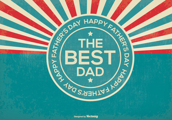 Retro Father's Day Illustration - vector #367767 gratis