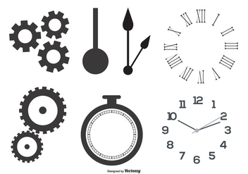 Clock Parts Vector Shapes - бесплатный vector #367777