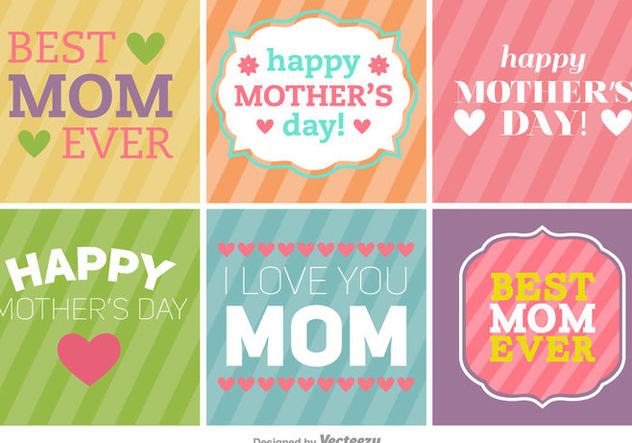 Happy Mothers Day Banners Backgrounds Free Vector