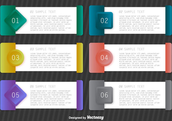 Vector Paper Progress Templates Step Banners - vector gratuit #367997
