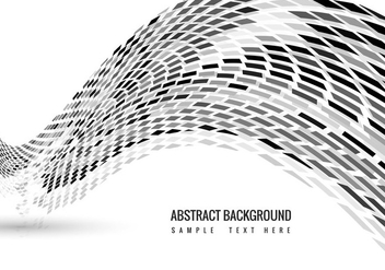Vector Mosaic Wave background - vector gratuit #368017