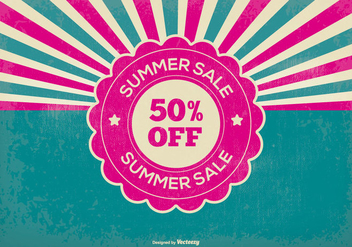 Retro Summer Sale Illustration - vector gratuit #368087