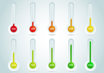 Goal Thermometer Vector Template - Kostenloses vector #368097