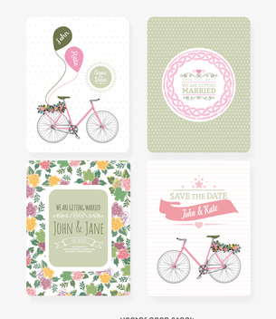 Wedding invitation set - vector gratuit #368167