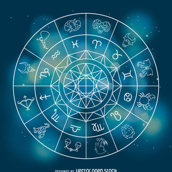 Horoscope zodiac signs illustration - Kostenloses vector #368177
