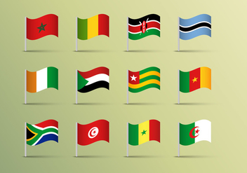 Africa Flags Vector Free - бесплатный vector #368197