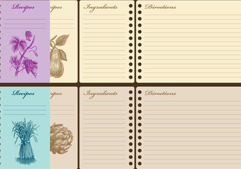 Vintage Recipe Cards - Free vector #368257
