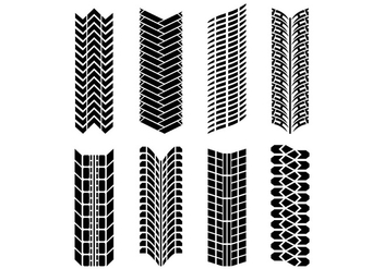 Set Of Tire Mark Vectors - Free vector #368297