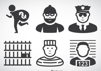 Criminal Icons Vector - Free vector #368347