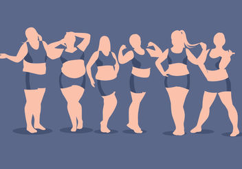 Full Figured Woman Vector - Free vector #368397