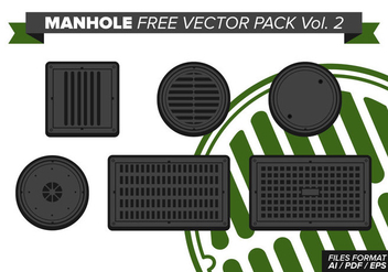 Manhole Free Vector Pack Vol. 2 - vector gratuit #368417