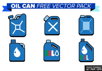 Oil Can Free Vector Pack - vector gratuit #368427