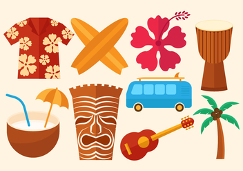 Free Hawaii Vector Icons - vector gratuit #368477