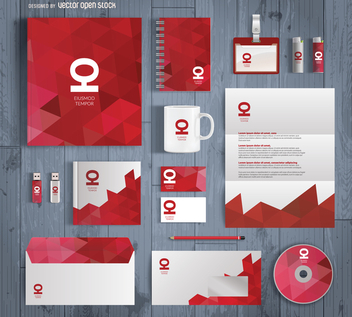 Office stationary mockup design - Free vector #368497