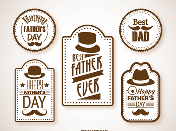 Hipster father's day labels - Free vector #368507