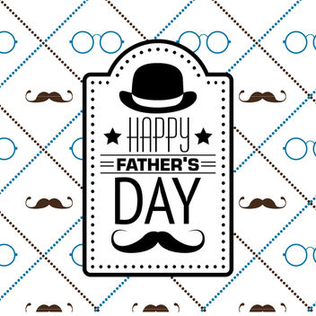 Hipster Father's Day pattern - Free vector #368517