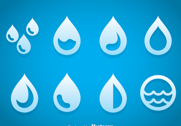 Drop Water Icons Vector - vector gratuit #368547