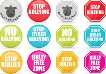 Stop Bullying Vector Signs - vector gratuit #368637