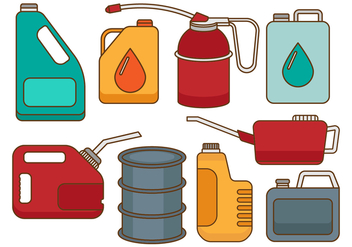 Free Oil Can Vectors - vector gratuit #368647