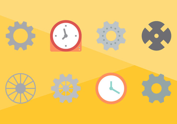 Free Clock Parts Vector Graphic 2 - Kostenloses vector #368687