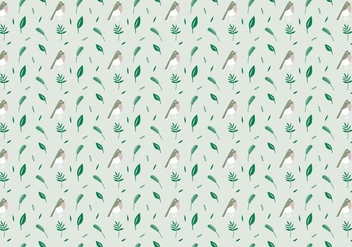 Birds Plants Pattern - Kostenloses vector #368727
