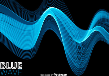Blue Abstract Modern Wave - vector gratuit #368767