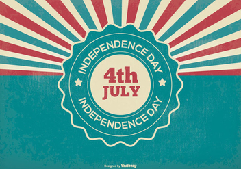 Retro Independence Day Illustration - vector gratuit #368847