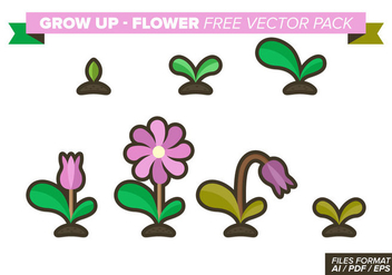 Grow Up Flower Free Vector Pack - vector gratuit #368877