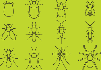Bugs Line Icons - Free vector #368907