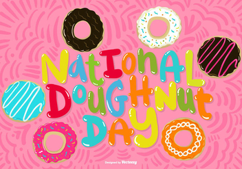 National Doughnut Day Vector - vector gratuit #368917