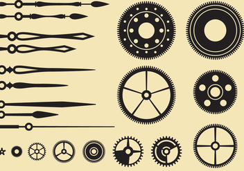 Clock Parts - vector gratuit #368927