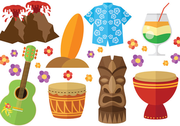 Free Hawaii Icons vector - vector gratuit #369027