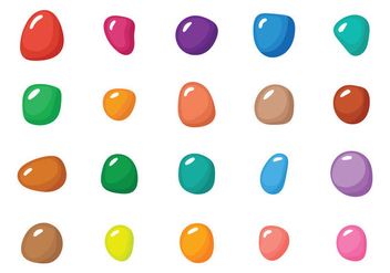 Smarties Illustration Set - Free vector #369047