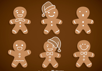 Gingerbread Vector - vector gratuit #369107