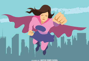 Superhero woman illustration - vector #369197 gratis