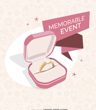 Wedding ring illustration - Free vector #369207