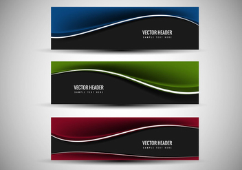 Free Vector Colorful header - vector gratuit #369297