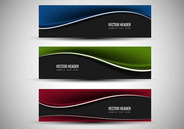 Free Vector Colorful header - Free vector #369297