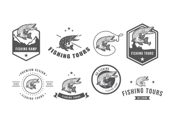 Free Pike Vintage Badge - Kostenloses vector #369327