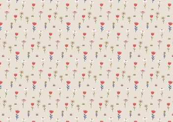 Pastel Flowers Pattern Background - vector #369337 gratis