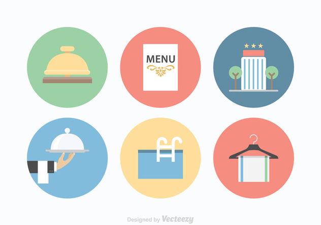 Free Hotel Services Vector Icons - Free vector #369397